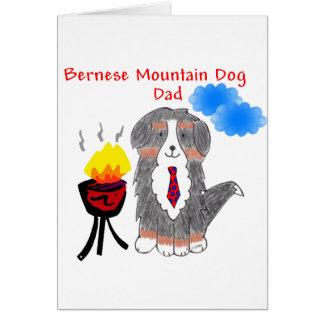 Carte de papa de chien de montagne de Bernese