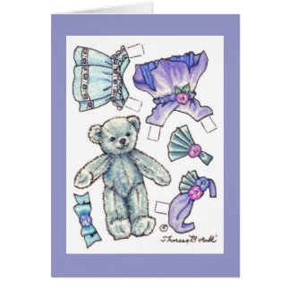 Carte de papier de nounours de poupée