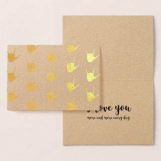 Carte de Papier d'emballage de feuille d'or de