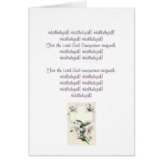 Carte de Pâques de choeur d'alléluia