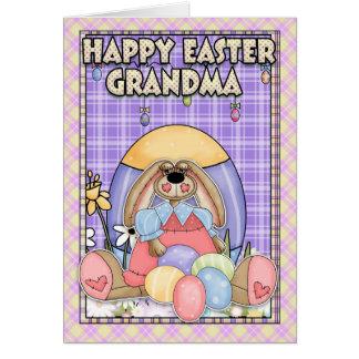 Carte de Pâques de grand-maman - lapin de Pâques