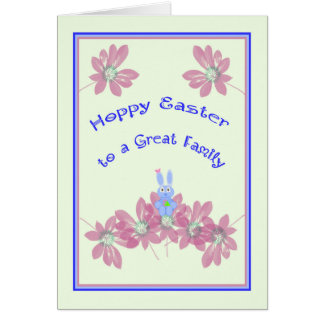 Carte de Pâques de houblon de babysitter