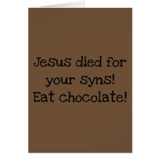 Carte de Pâques drôle/alternative/suivre un régime