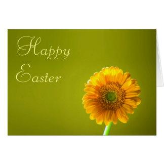 Carte de Pâques - fleur jaune de Gerbera de