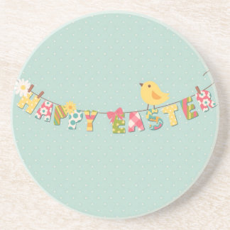 Carte de Pâques heureuse mignonne Dessous De Verre