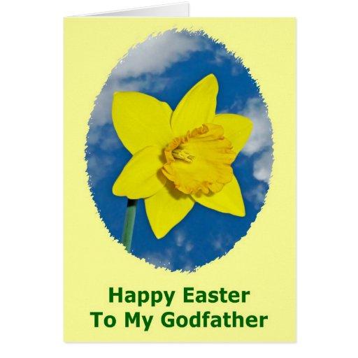 Carte de Pâques heureuse pour le parrain