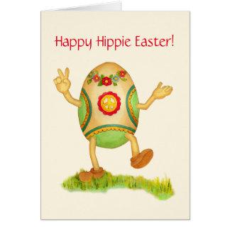 Carte de Pâques hippie heureuse