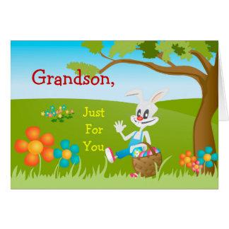 Carte de Pâques juste pour le petit-fils