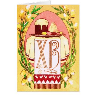 Carte de Pâques orthodoxe (slave) russe vintage