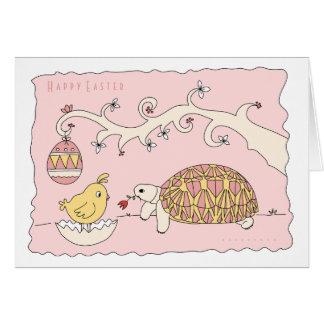Carte de Pâques personnalisable de tortue d'étoile