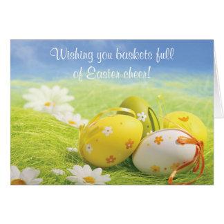 Carte de Pâques - vous souhaitant le fullof Pâques