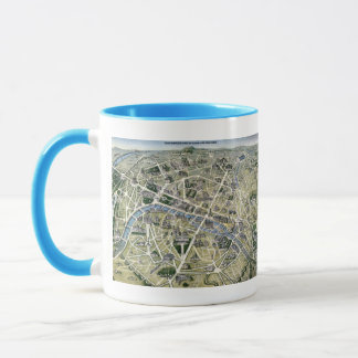Carte de Paris au cours de la période des Grands Mug