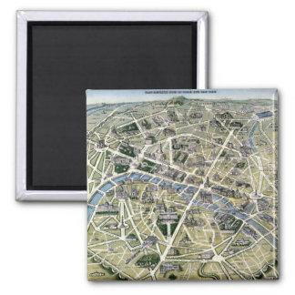 Carte de Paris pendant les 'Grands Travaux Magnet Carré