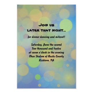 Carte de partie de réception de Mitzvah de barre Carton D'invitation 8,89 Cm X 12,70 Cm