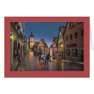 "Carte de Paul McGehee ""Noël dans Rothenburg"""