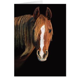 Carte de peinture de cheval