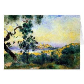 Carte de peinture de paysage d'Antibes France