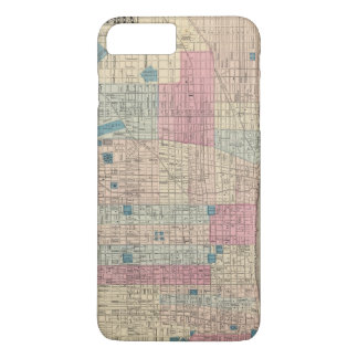 Carte de Philadelphie, Pennsylvanie Coque iPhone 7 Plus