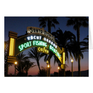 Carte de pilier de Santa Monica
