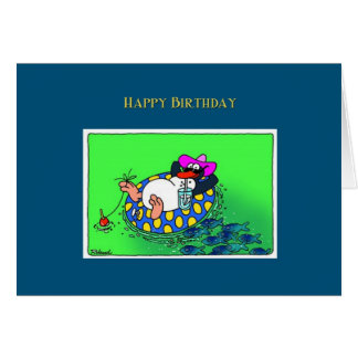 Carte de pingouin de joyeux anniversaire
