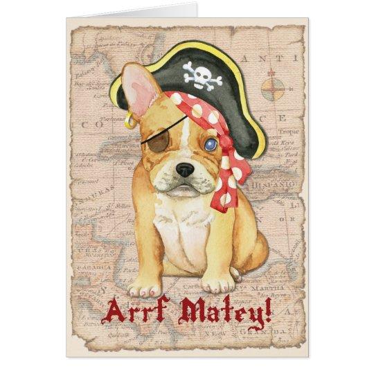 Carte De Pirate De Bouledogue Francais Zazzle Fr
