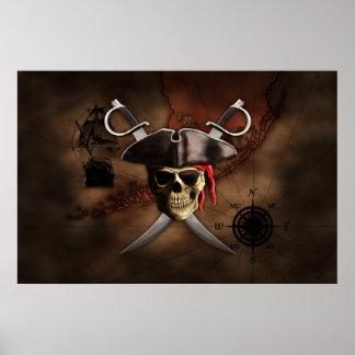 Carte de pirate posters