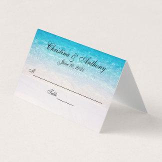 Carte De Placement Carte blanche de place de réception de mariage de