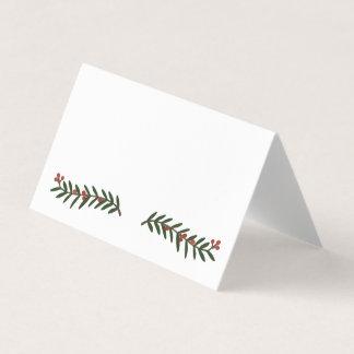 Carte De Placement Carte de fête d'endroit de mariage de Noël de
