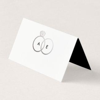 Carte De Placement Carte décorée d'un monogramme moderne d'endroit