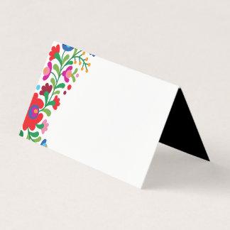 Carte De Placement Carte mexicaine colorée d'endroit de blanc de