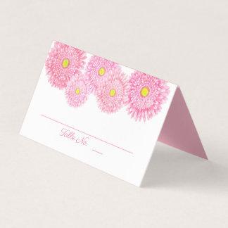 Carte De Placement Carte rose d'endroit de mariage de Gerbera