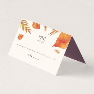 Carte De Placement Épouser de feuille d'automne