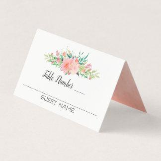 Carte De Placement Nombres roses d'invités et de Tableau de bouquet