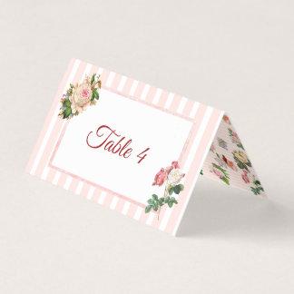 Carte De Placement Rougissent la carte rose de Tableau de bouquet de