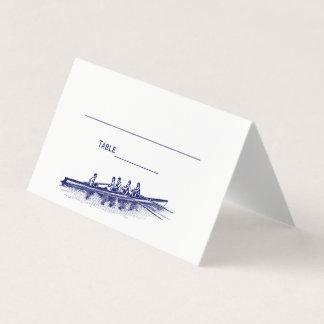 Carte De Placement Sports aquatiques bleus d'équipe d'équipage de