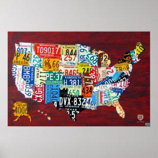 Carte de plaque minéralogique de l affiche 2011 de
