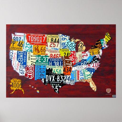 Carte de plaque minéralogique de l'affiche 2011 de