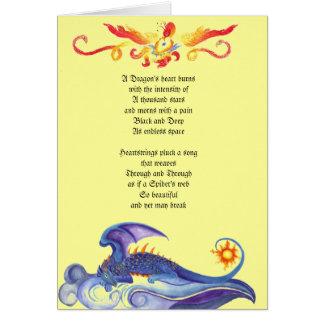 Carte de poème du coeur du dragon