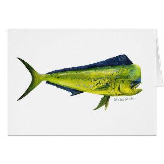 Carte de poissons de Mahi Mahi