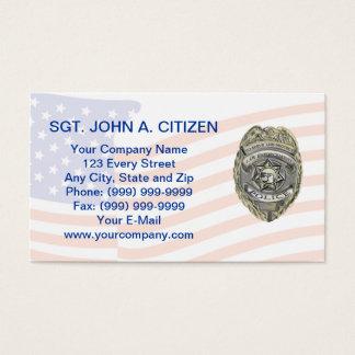 carte de police d'assistant du shérif de police