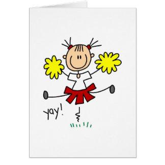 Carte de pom-pom girl de Yay