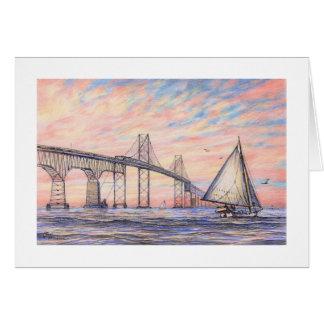 "Carte de ""pont de baie de chesapeake"" de Paul"