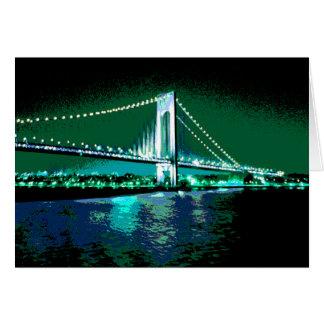 Carte de pont de verts et de bleus