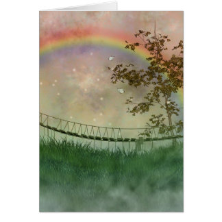 Carte de pont en arc-en-ciel