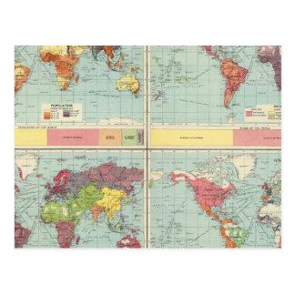 Carte de population mondiale