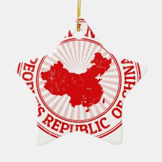 carte de porcelaine ornement étoile en céramique