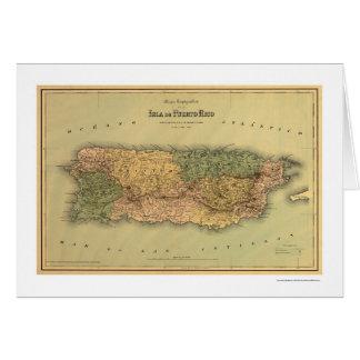 Carte de Porto Rico par Colton 1886
