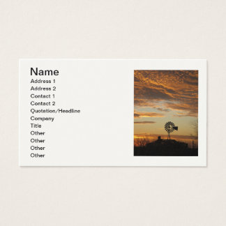 Carte de portrait de coucher du soleil de moulin à