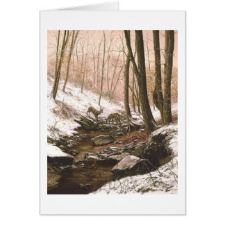 "Carte de ""première neige"" de Paul McGehee"