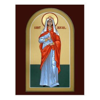 Carte de prière d'Abigaïl de saint Carte Postale